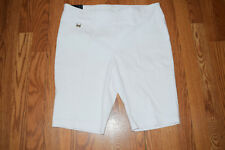 RAFAELLA White Dressy Shorts Size 6 $50 NWT Womens Comfort Stretch
