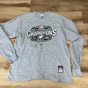 Philadelphia Eagles 2004 NFC Champions Long Sleeve T Shirt Size Large