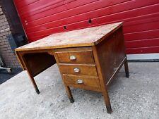 Vintage Workshop / Teacher Style Wooden Desk Drawers, Retro, Patina, Work Bench