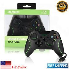 New USB Wired Game Controller For Microsoft Xbox One PC Dual Vibration Black