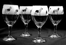 More details for alsatian/ german shepherd  dog gift wine glasses..set of 4....boxed.
