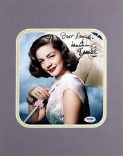 "Lauren Bacall ""Best Regards"" Authentic Signed 8x10 Matted Photo PSA/DNA #S38108"