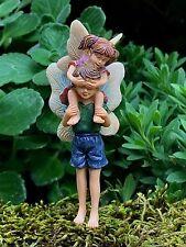 Miniature Dollhouse FAIRY GARDEN ~ Piggyback Ride Boy & Girl Pick ~ NEW