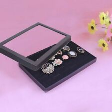 36 Slots Ring Display Box Jewelry Organizer Holder Transparent Window Showcase