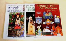 Lot of 3 Christmas Holiday Painting How To Paint Instructions Pattern Book