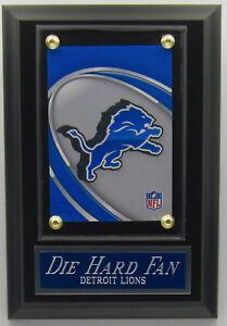 DIE HARD FAN DETROIT LIONS LOGO CARD PLAQUE FOR YOUR MAN CAVE WALL DECOR