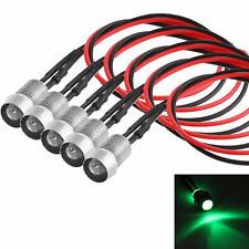 5 x Vert LED Indicateur Lampe Pilot Dash directionnel Voiture Moto Bateau 12V