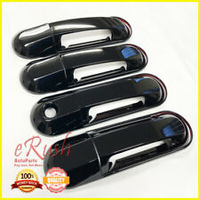 For 2002-2010 Ford Explorer+Sport Trac 8pcs Glossy Black Handle Covers w/ Bezels