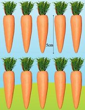 10 Mini Glitter Carrots Easter Decorations Egg Hunt Party Basket Craft Kid Child