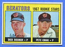 1967 ToppsSenators Rookies Bosman and Craig #459 NM/MT+