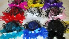 Job lot 12 pcs Small Hat Design Hair Fascinator on Hairclip NEW wholesale Lot B