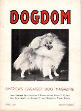 Vintage Dogdom Magazine April 1937 Pomeranian Cover