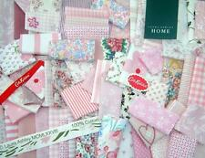 ❤LAURA ASHLEY❤CATH KIDSTON LIBERTY❤ 30 +PINK SCRAPS PATCHWORK CARD MAKING CRAFTS