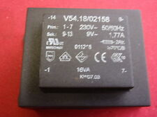 Print-transformateur 9v ~ 1,77a Dimensions env. 57x47x40mm transformateur 24788