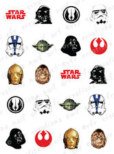 20 NAIL DECALS *STAR WARS ASSORTMENT * WATER SLIDE NAIL ART DECALS