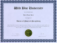 Doctor Powered Paragliding Novelty Diploma Gag Gift
