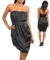 Ladies Women Formal Cocktail Party Strapless Layered Black Dress Size 10 12 NEW