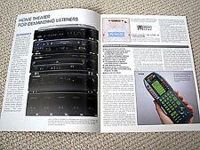 Marantz 1996 Laserdisc player, VHS VCR, amplifier brochure