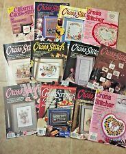 Set of 12 vintage cross stitch magazines 1989-94