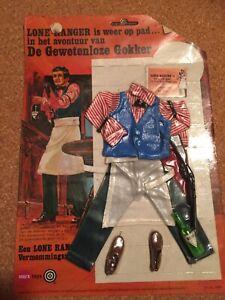 Vintage Marx Lone Ranger the Crooked Gambler Clothing set. German Language