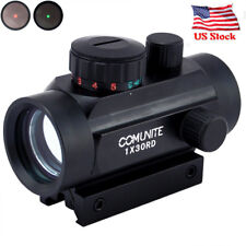 1X 30 Red/Green Dot Sight Tactical Holograp w/ Integral Picatinny Mounting Deck