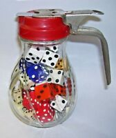 Antique Syrup Jar Full of Dice Nice Decorative Table Top Display
