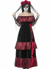 Day O Dead Corpse Bride Costume Skeleton Halloween Fancy Dress Smiffys XL 18 New
