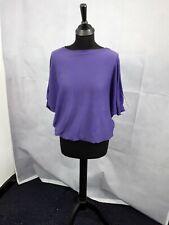 Mujer Manga Ala de Murciélago Púrpura Superior Suéter del cuerpo Flirt Talla 40/42