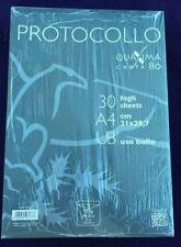 FOGLI PROTOCOLLO USO BOLLO BIANCO PIGNA CF.30 fg 80 g.