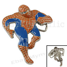 Super Hero Spiderman Figure Removable Metal Belt Buckle