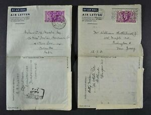 1948 OLYMPICS, two 6d. Olympics Air Letters in a used condition.