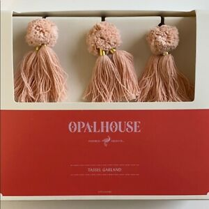 Opalhouse Tassel Garland Pink Gold Beads New Box Summer Spring 5 Feet