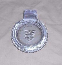 PENNSYLVANNNIA RUBBER CO Vacuum Cup Cord ALEXANDRITE GLASS TIRE ASHTRAY PA Pat'd