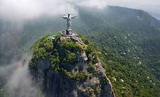 Framed Print - Christ the Redeemer Rio de Janeiro Brazil Landmark (Picture Art)