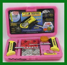 "BlackJack Passenger Tire Repair Kit T-Bone Handles 40 4"" Plugs Pink Case KT-330P"