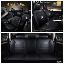 PU Leather 5-Seats Car Seat Cover Cushion Pad 6D Surround Breathable Comfortable