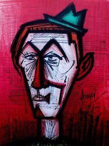 BUFFET Bernard : le clown rouge - LITHOGRAPHIE originale signée, MOURLOT, 1967