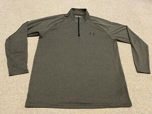 UNDER ARMOUR MEN`S GREY LONG SLEEVE TOP SIZE L