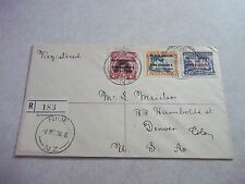 NIUE Cook Islands SILVER JUBILEE STAMPS On 1936 Registered Cover To USA  - NZ