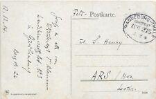 GERMANY FELD POST CARD 13/12/1914;MAGDEBURG-THALE; RAIL CANCEL ZUG 375.