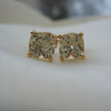 1.34ct Certified Cushion Turkish Diaspore Gold Stud Earrings