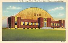 A79/ Grand Forks North Dakota ND Postcard 1946 University Winter Sports Arena