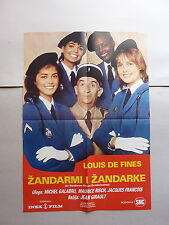 LE GENDARME ET LES GENDARMETTES (1982/FRANCE) ORIGINAL YUGOSLAVIAN MOVIE POSTER