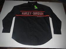Men's Harley Davidson Long Sleeve Button Down Shirt t-shirt Medium **NEW**