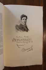 Pietro Mascagni Musique Figures Contemporaines Mariani Biographie 1904 1/150 ex.