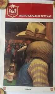 """Vintage Lone Star Beer Poster Print ~ """"SIDE KICK"""" 28X18 INCHES. RARE"""