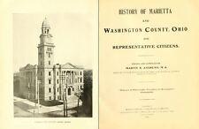 1902 MARIETTA & WASHINGTON County Ohio OH, History and Genealogy DVD B14