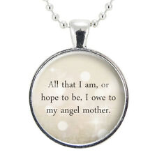 Inspirational Abraham Lincoln Quote Necklace, Gift Ideas for Mom, Mother's Day P