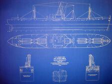 """Liberty Ship WW2 SS Zane Grey 1942 Blueprint Plan 24""""x31""""  (075)"""