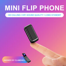 Mini Flip Mobile Phone F1 1.08 inch Small Cell Phone Wireless Bluetooth Di U2T4